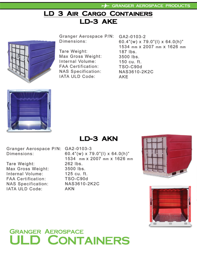 LD 3 Specifications, Dimensions, LD 3 Air Cargo Container Dimensions, AKE Dimensions, AKF dimensions